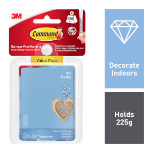 Command Mini Clear Hooks with Clear Strips Value Pack