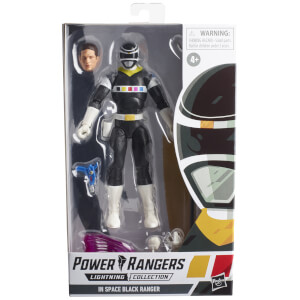 Hasbro Power Rangers Lightning Collection In Space Black Ranger Ranger Figure