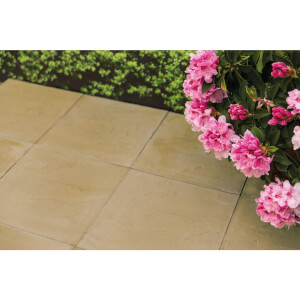 Stylish Stone Hereford Paving Riven 450 x 450mm - Gold
