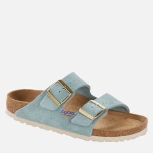 Birkenstock Women's Arizona Sfb Suede Double Strap Sandals - Light Blue