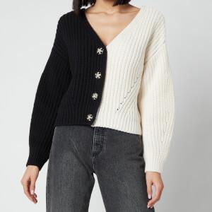 Self Portrait Women's Contrast Knit Cardigan - Multi