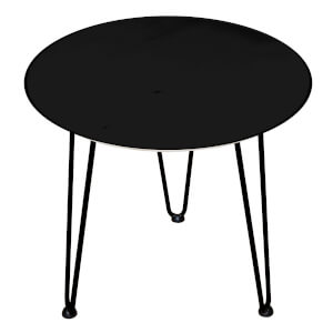 Decorsome Black Wooden Side Table