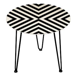 Decorsome Corner Stripes Wooden Side Table