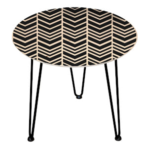 Decorsome Herringbone Wooden Side Table