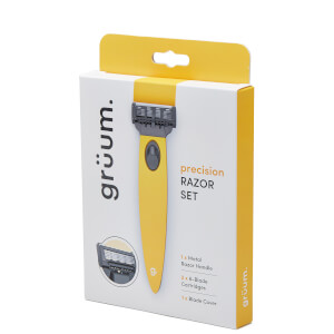 grüum Precision Razor Set - Citrus Yellow