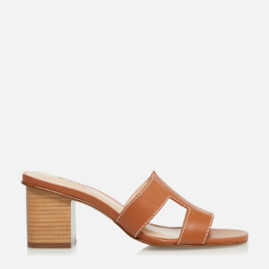 Dune Women's Jupe Leather Heeled Mules - Tan