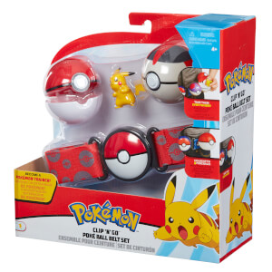 Pokémon Clip 'N' Go Pikachu Poke Ball Belt Set