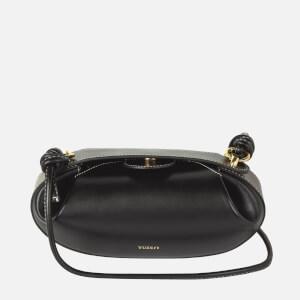 Yuzefi Women's Dinner Roll Leather Bag - Black