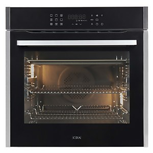 CDA SL400SS Built-in Multifunction Single Electric Oven with Steam Clean - 13 Function - Stainless Steel