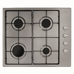 CDA HG6151SS 4 Burner Gas Hob with Side Controls - 60cm - Stainless steel