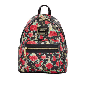Loungefly Disney Belle Roses AOP Mini Backpack