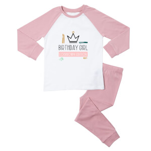 Birthday Girl Lockdown Edition Kids' Pyjamas - White/Pink