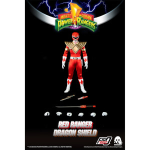 ThreeZero Power Rangers Red Ranger 1:6 Scale Figure (Dragon Shield Version)