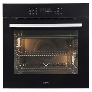 CDA SL550BL Built-in Pyrolytic Single Electric Oven - 13 Function - Black