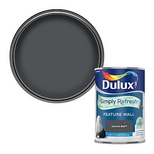Dulux Simply Refresh Feature Wall One Coat Matt Emulsion Paint - Cannon Ball - 1.25L