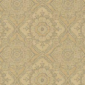 Grandeco Boutique Clarence Saran Yellow Wallpaper