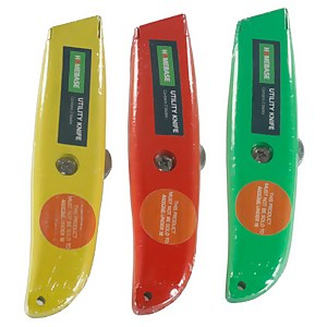 Metal Utility Knife - 2 Blades