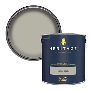 Dulux Heritage Matt Emulsion Paint - Stone Green - 2.5L