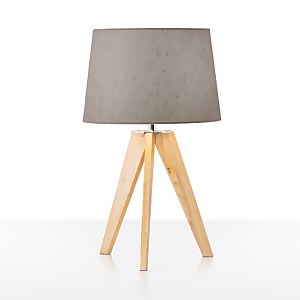 Poppy Table Lamp With Grey Shade
