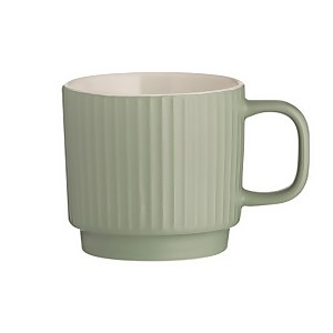 Mason Cash Embossed Line Green Mug