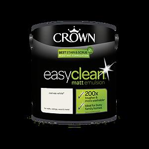 Crown Easyclean 200 Canvas White Matt Paint - 2.5L