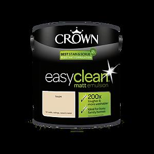 Crown Easyclean 200 Taupe Matt Paint - 2.5L