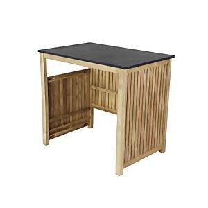 Hartington Wooden BBQ Outdoor Kitchen - Fridge Cabinet