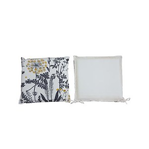 Homebase Outdoor Seat Pad Cushions in Floral Natural - (Pack of 2)