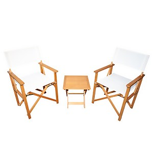 Homebase Directors Chair Bistro Set - Natural