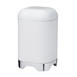 Lovello Textured Food Storage Container with Geometric Hexagon Pattern Ice White