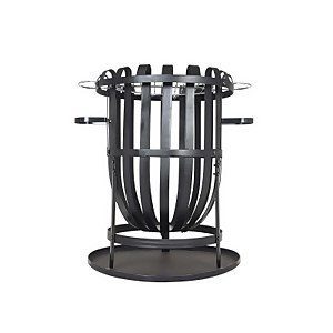 Vancouver Steel Firebasket With Grill