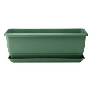 Self Watering Balconniere Troughs in Green - 70cm