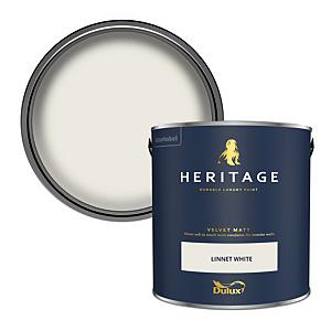 Dulux Heritage Matt Emulsion Paint - Linnet White - 2.5L