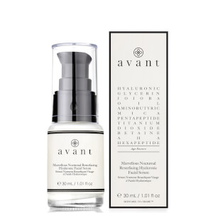 Avant Skincare Marvellous Nocturnal Resurfacing Hyaluronic Facial Serum 30ml