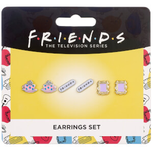 Friends Set of 3 Earring Studs - Frame, Coffee Cup & Friends Logo from I Want One Of Those