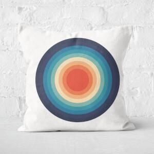 Circle Retro Pattern Square Cushion
