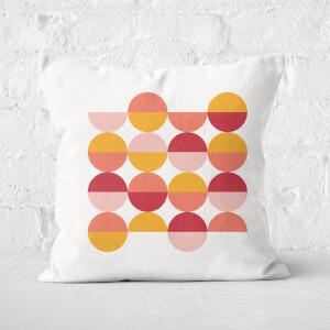Circle Retro Motif Square Cushion