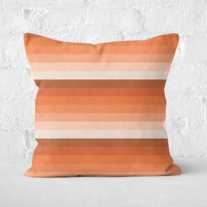 Retro Stripe Square Cushion