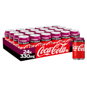 Coca-Cola Zero Sugar Cherry 24 x 330ml