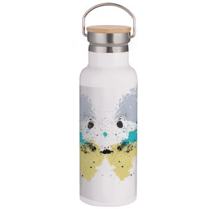 Rorschach Inkblot Pastels Portable Insulated Water Bottle - White