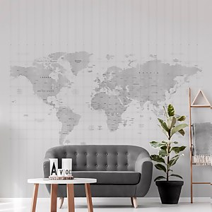 Map Of The World Wall Mural