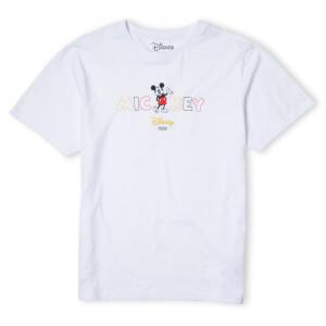 Disney Mickey Mouse Disney Wording Men's T-Shirt - White