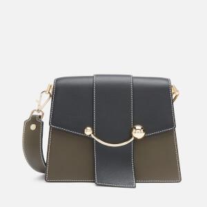 Strathberry Women's Box Crescent Bag - Forest/Black/Vanilla