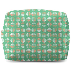Retro Green Circles Wash Bag