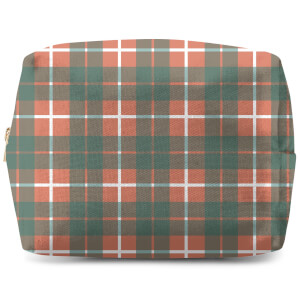 Tartan Orange Wash Bag