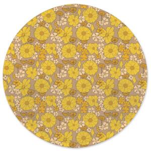 60s Wallpaper Round Bath Mat