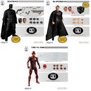 Mezco One:12 Collective Zack Snyder's Justice League Deluxe Steel Boxed Set