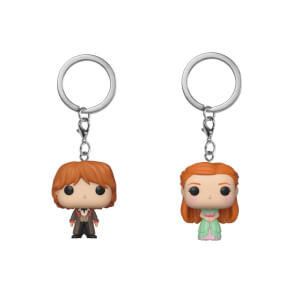 Harry Potter Ron & Ginny Weasley Funko Pop! Keychain Bundle