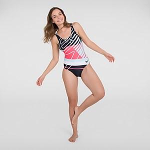 Women's Placement U-Back Swimsuit Black
