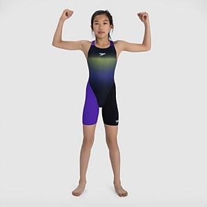 Girl's Fastskin Junior Endurance+ Openback Kneeskin Black